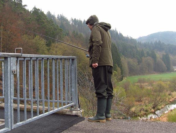 рыбалка на плотине