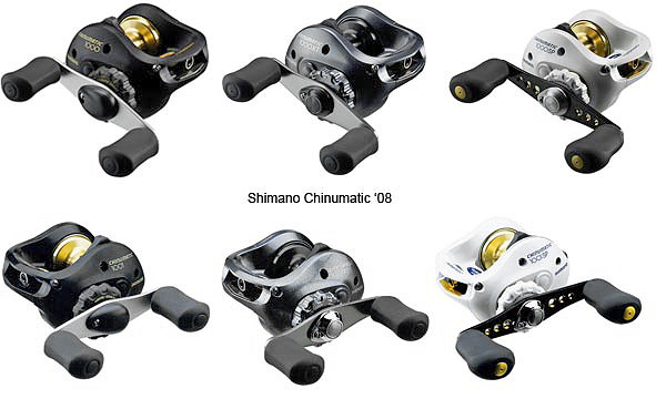 Shimano Chinumatic reel range