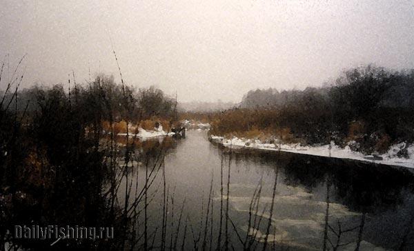 На зимней реке
