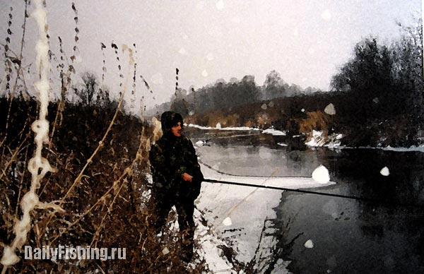 Спиннинг на реке зимой