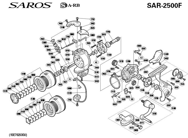 shimano saros 2500f schematics