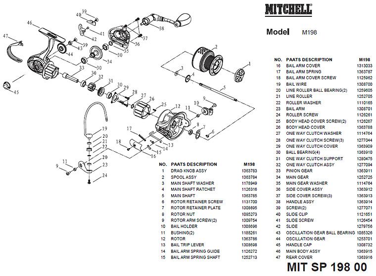 mitchell 198 schematics