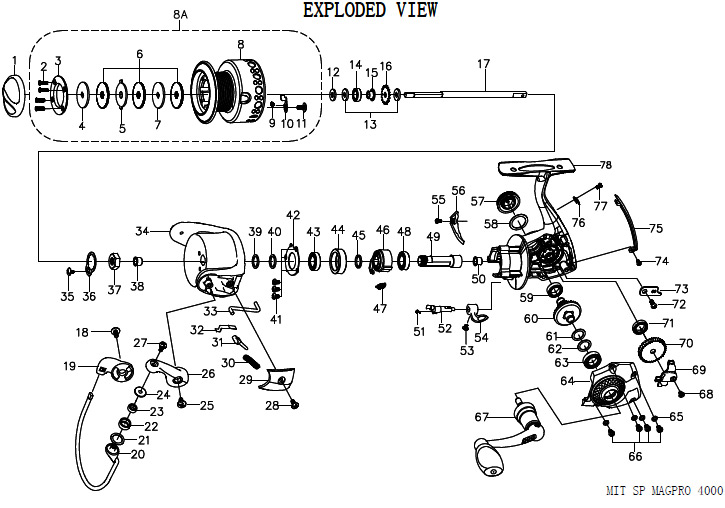 mitchell reel schematic