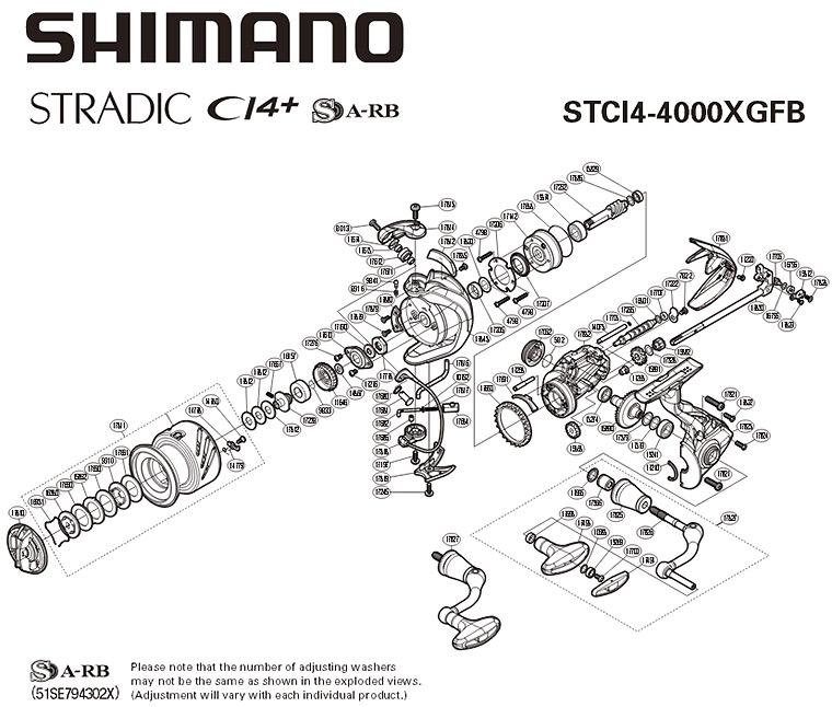 схема катушки shimano stradic ci4+ fb