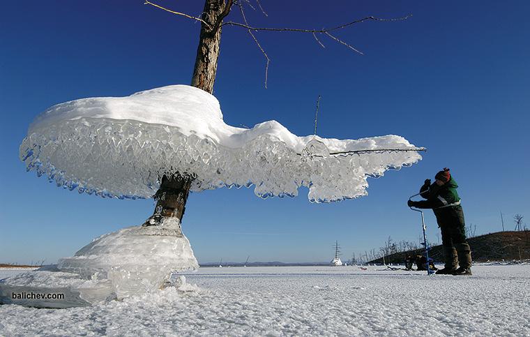 бурейское водохранилище зима