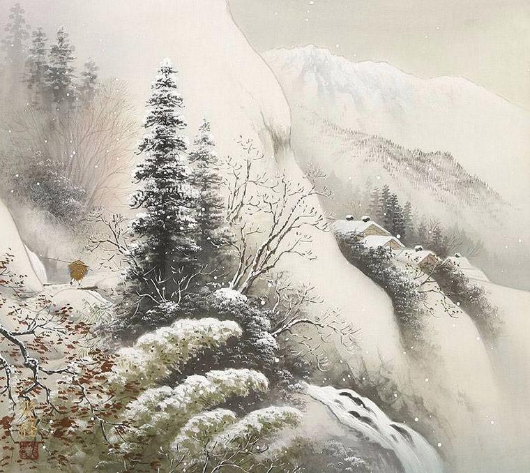 Зима в горах Японии