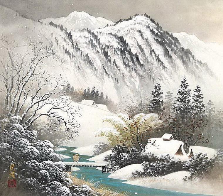 зимой в горах кодзима
