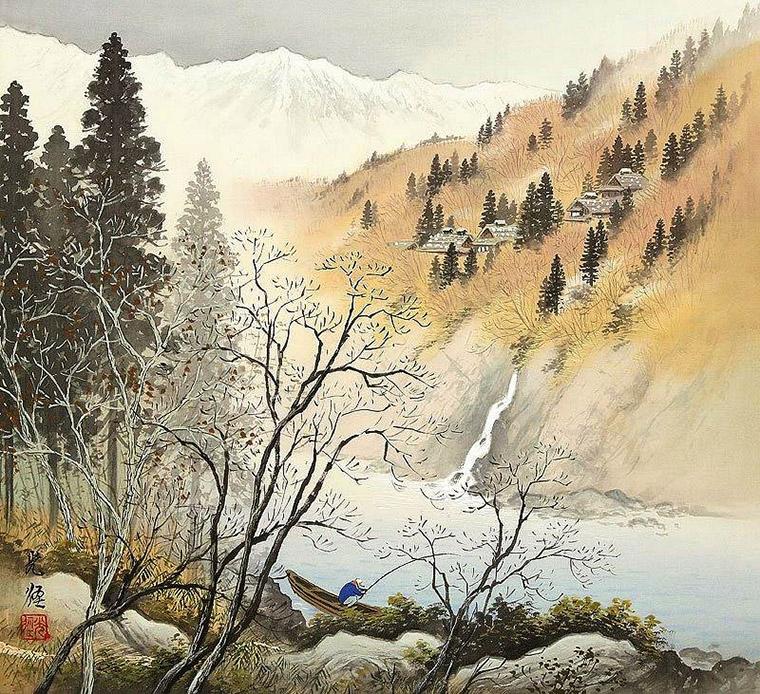 река япония живопись