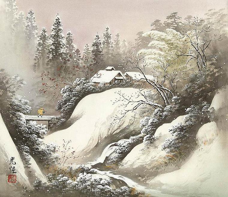 зимой в горах япония