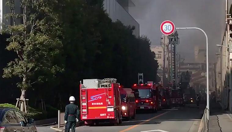 пожар на заводе симано