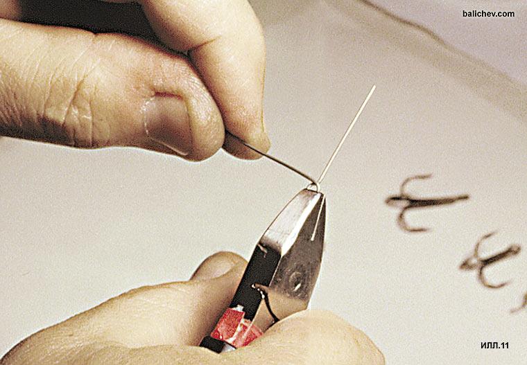 процесс изготовления петельки на проволоке
