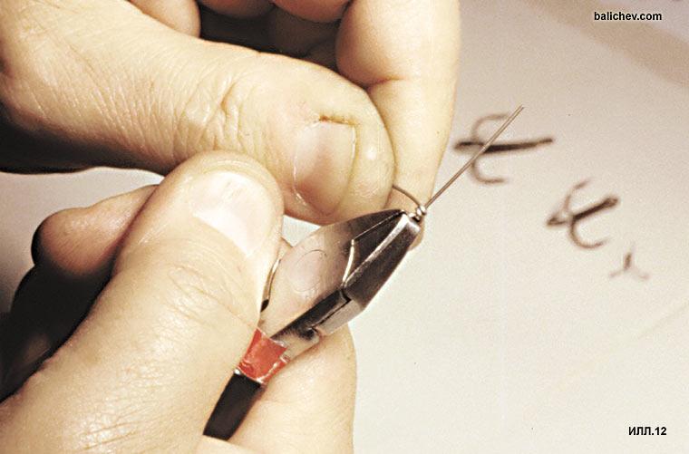 изготовление петельки на проволоке моталов