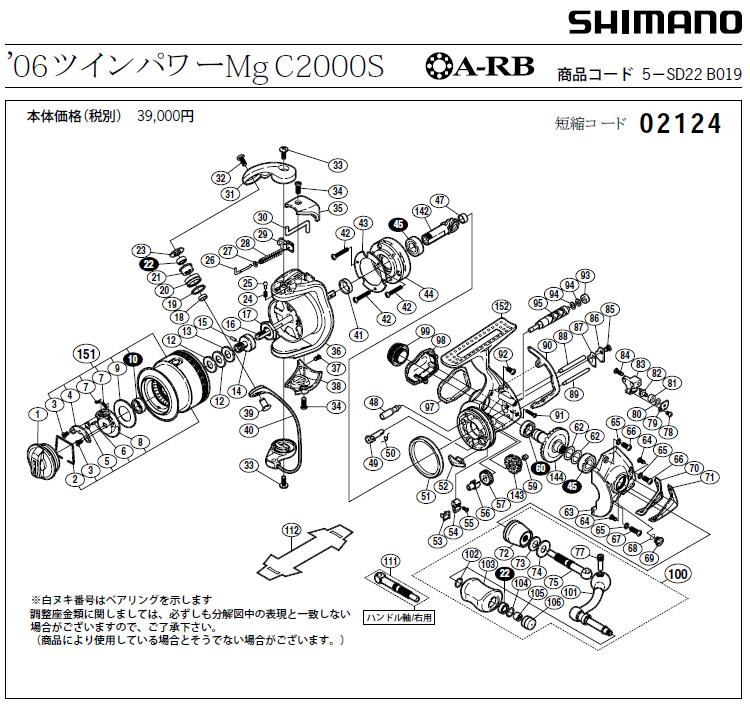 shimano 06 twin power schematic схема
