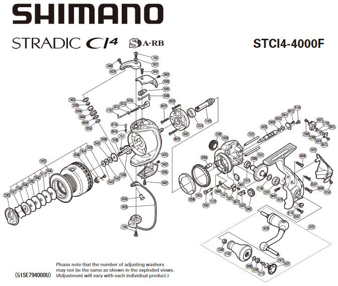 shimano stradic ci4 схема