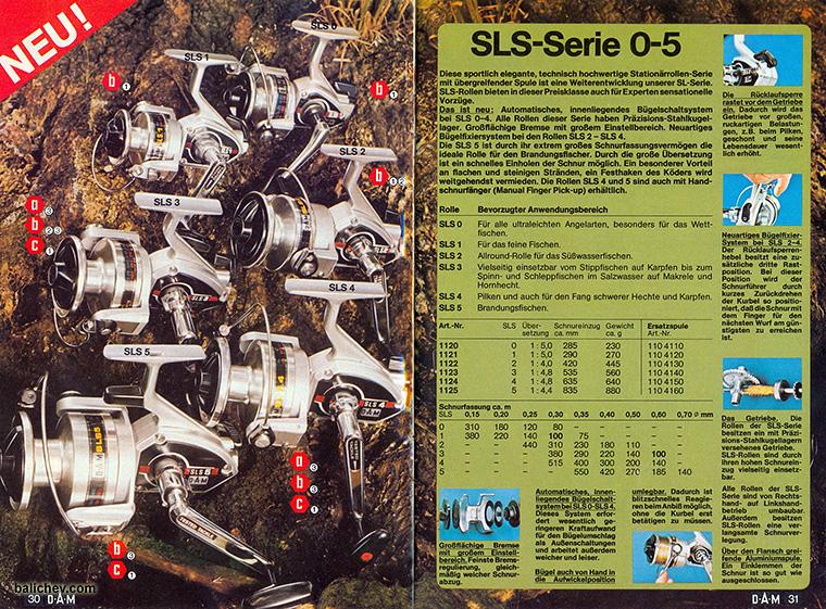 катушки DAM SLS reels