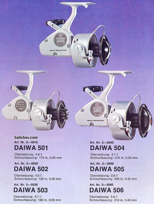 daiwa 501 - 506 spinning reels