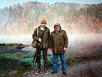 рыболовы осенью