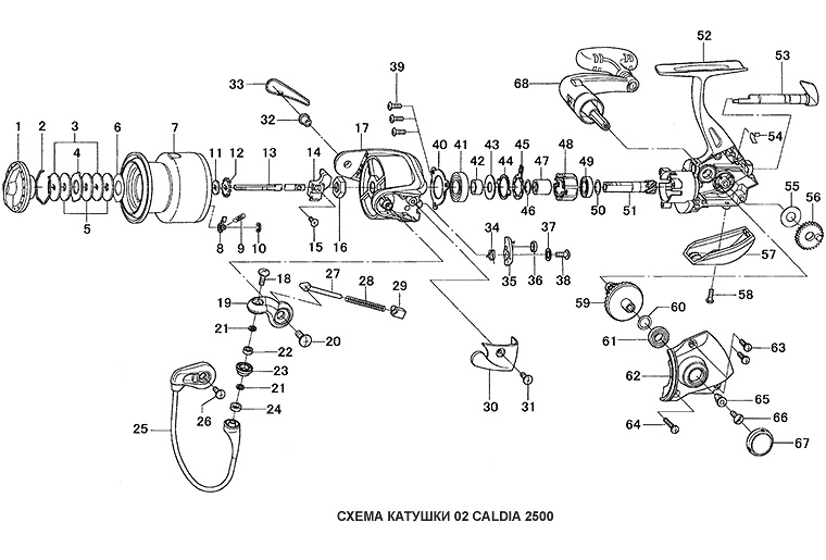 daiwa 02 caldia schematic