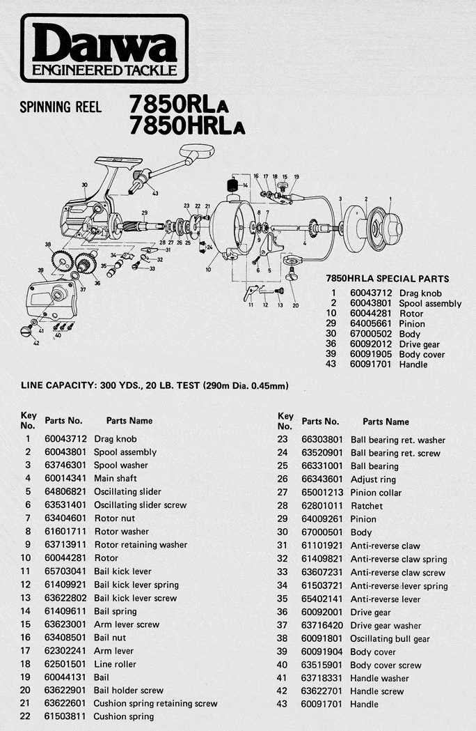 daiwa 7850 schematic