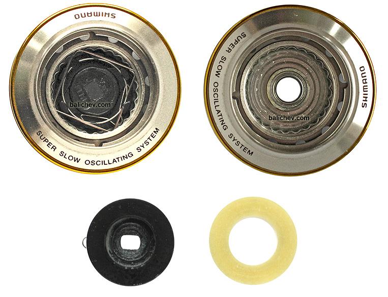 shimano 01 stella FW шпуля и тормоз