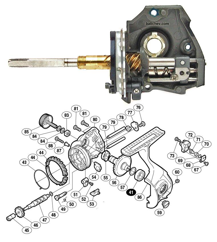 Shimano 07 Ultegra Advance oscillation mechanism