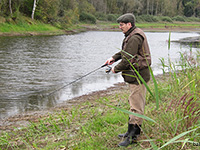 Д.Баличев на рыбалке