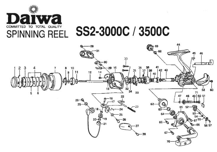 daiwa ss ii 3500c схема