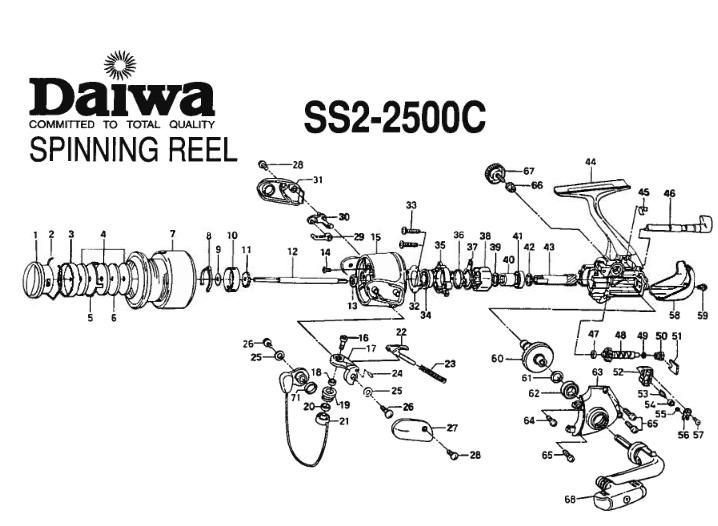 daiwa ss ii 2500c схема