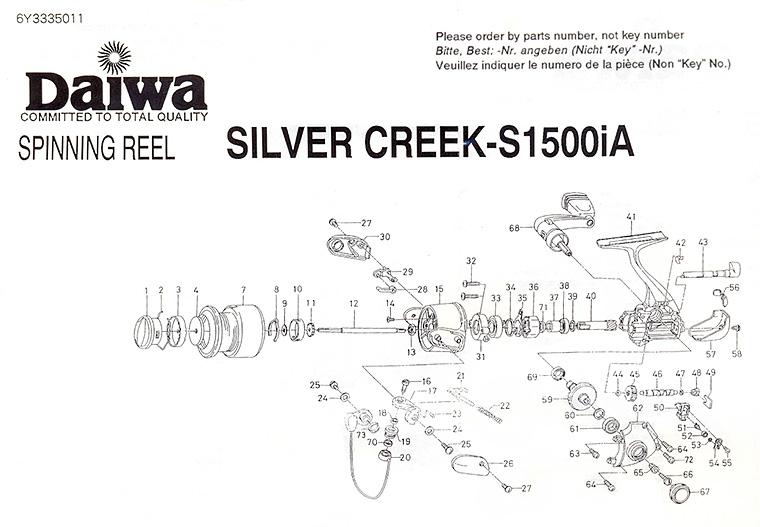 daiwa silver creek-s1500ia schematic