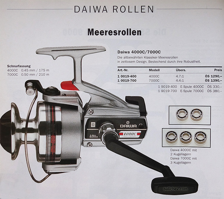 daiwa 4000c каталог