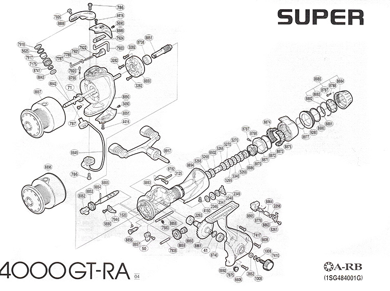 shimano super gt 4000 ra schematic diagram