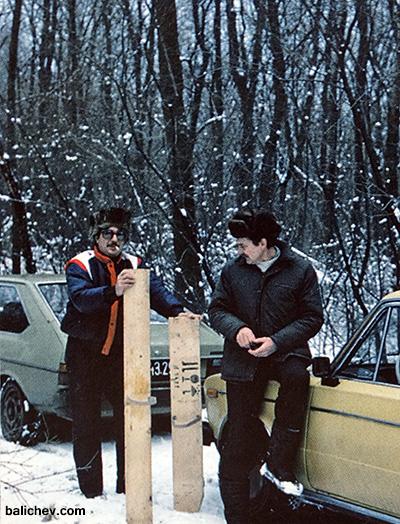 импровизированные лыжи на рыбалке