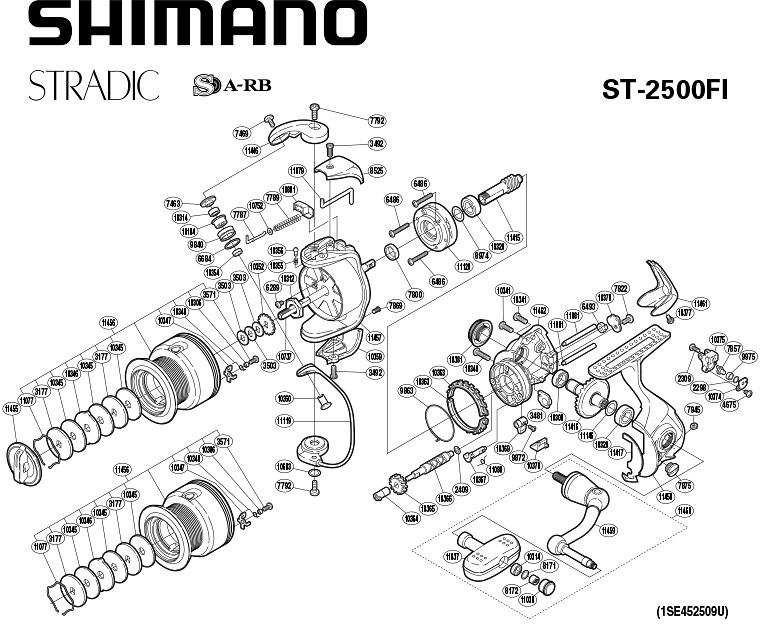 shimano stradic 2500fi schematic