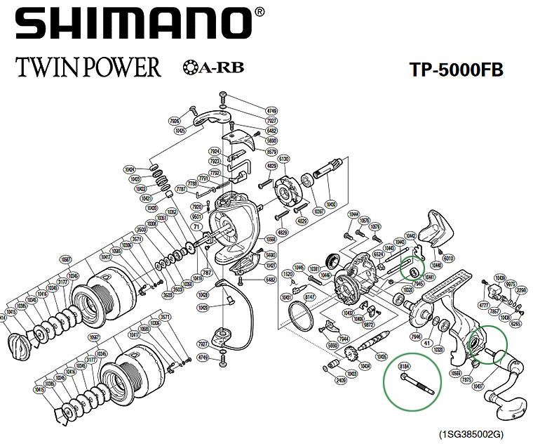 shimano twin power 5000 fb parts diagram