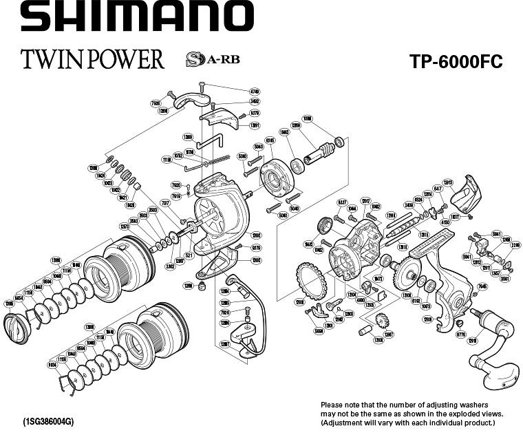 shimano twin power 6000 fc схема