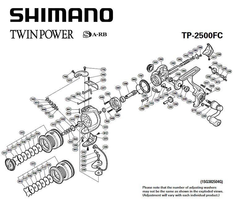 shimano twin power fc 2500 schematic